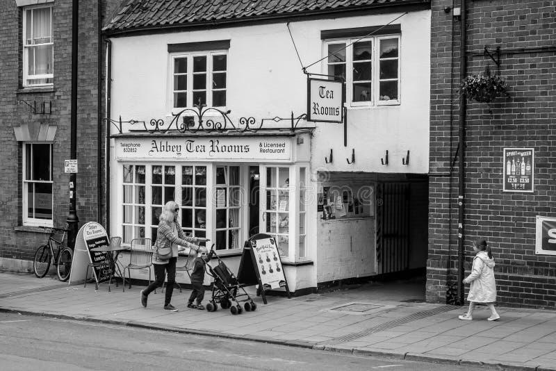 Abbey Tea Rooms in Glastonbury stock afbeeldingen