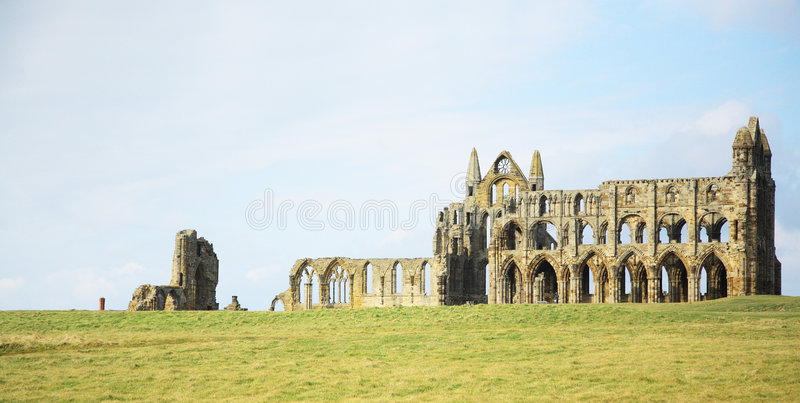 The Abbey at Whitby royalty free stock image