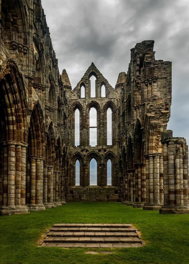 The abbey - Whitby stock photo