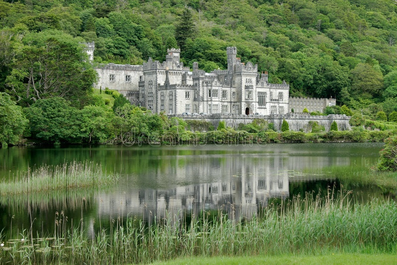 abbey zamek kylemore Galway Ireland obraz stock