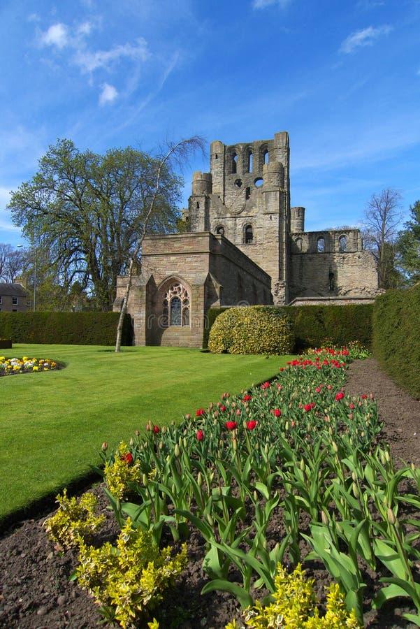 abbeyen borders kelso scotland royaltyfri foto
