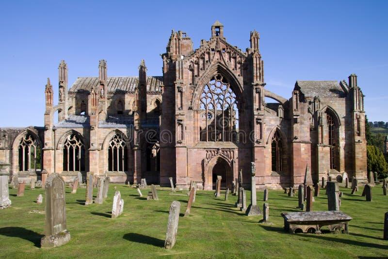 abbeymelrose royaltyfri bild