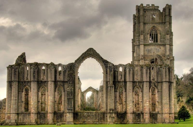abbeyspringbrunnnorr yorkshire arkivfoto