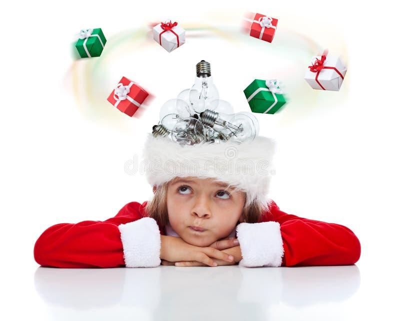 Abbia bisogno di un'idea del regalo di Natale? fotografia stock