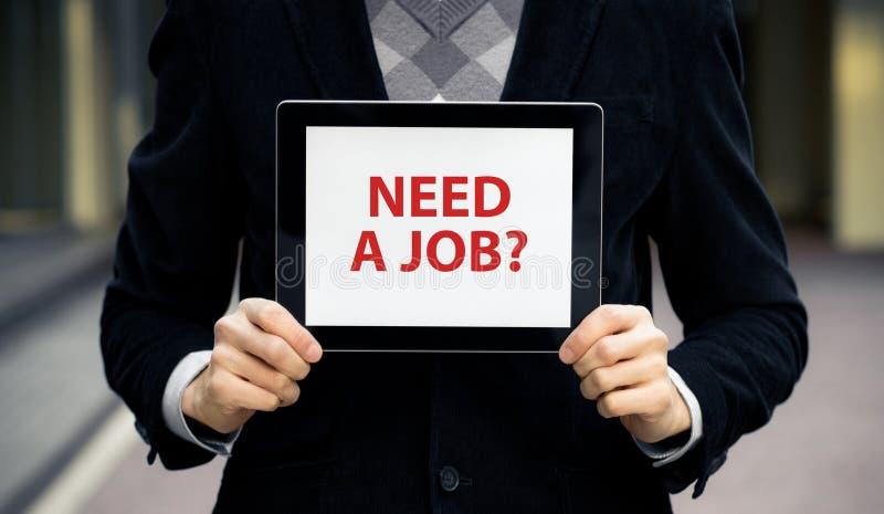 Abbia bisogno di un job? fotografie stock