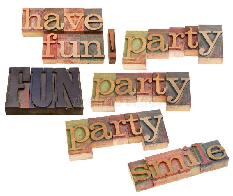 Abbia divertimento, il sorriso, partito immagini stock libere da diritti