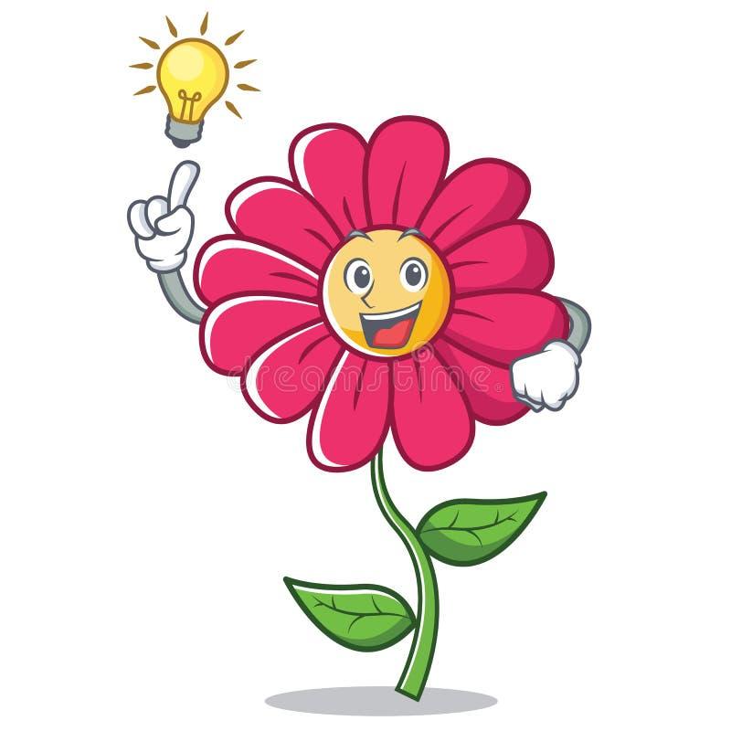 Abbia un fumetto del carattere del fiore di rosa di idea illustrazione vettoriale