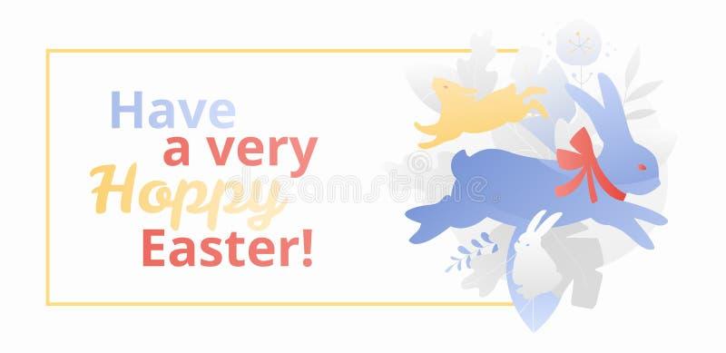 Abbia un'insegna molto di luppolo di Pasqua royalty illustrazione gratis