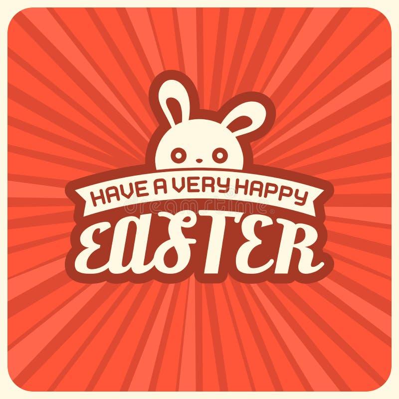 Abbia un manifesto molto felice di Pasqua illustrazione vettoriale