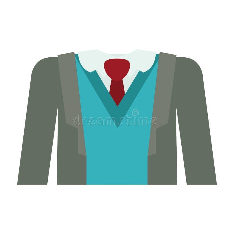 Abbigliamento convenzionale pieno con il legame royalty illustrazione gratis