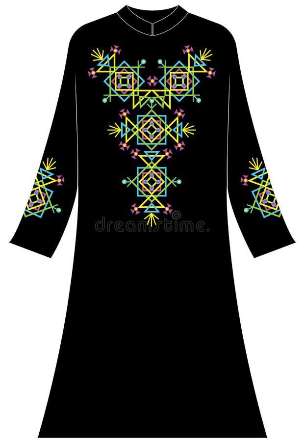 Abbigliamento del ` s delle donne: Estratto geometrico con colore elettrico fotografie stock libere da diritti