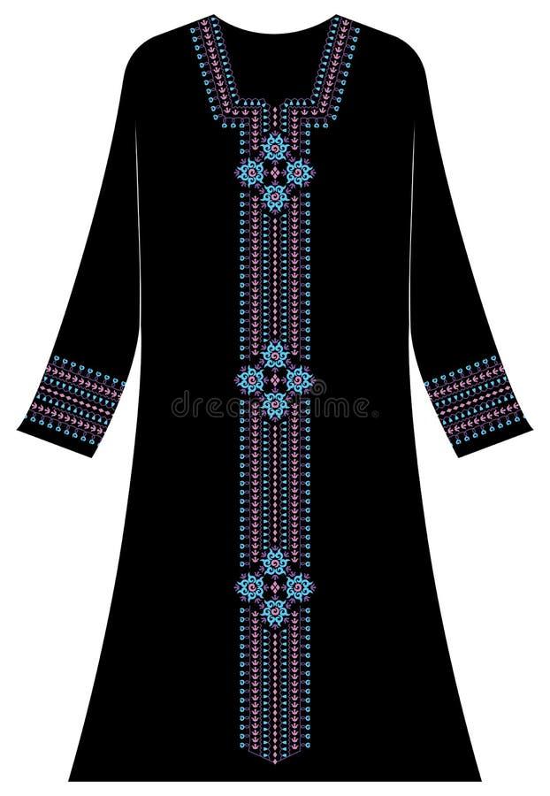 Abbigliamento del ` s delle donne: Estratto ornamentale unico e antico immagini stock libere da diritti