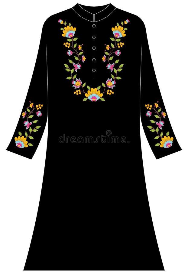 Abbigliamento del ` s delle donne: Fiore di fantasia con gli ornamenti di amore immagini stock