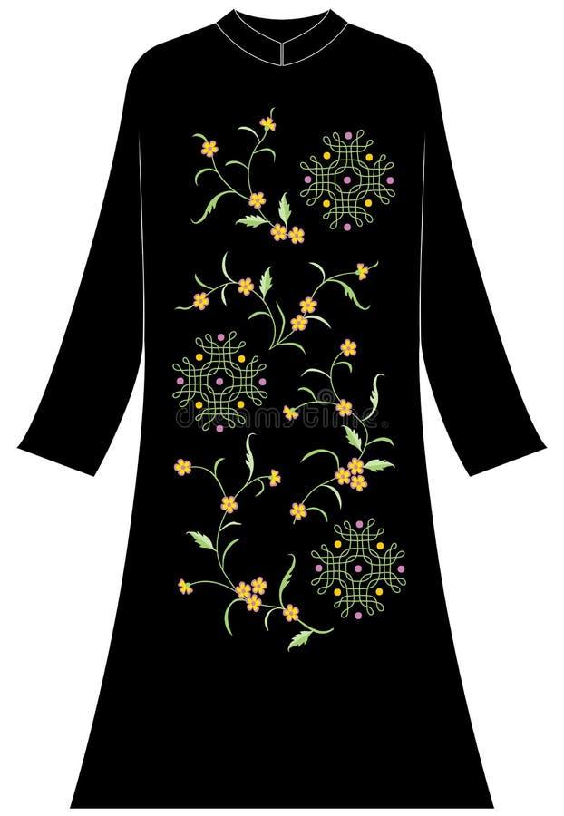 Abbigliamento del ` s delle donne: Gelsomino e linee e sfere geometriche immagine stock