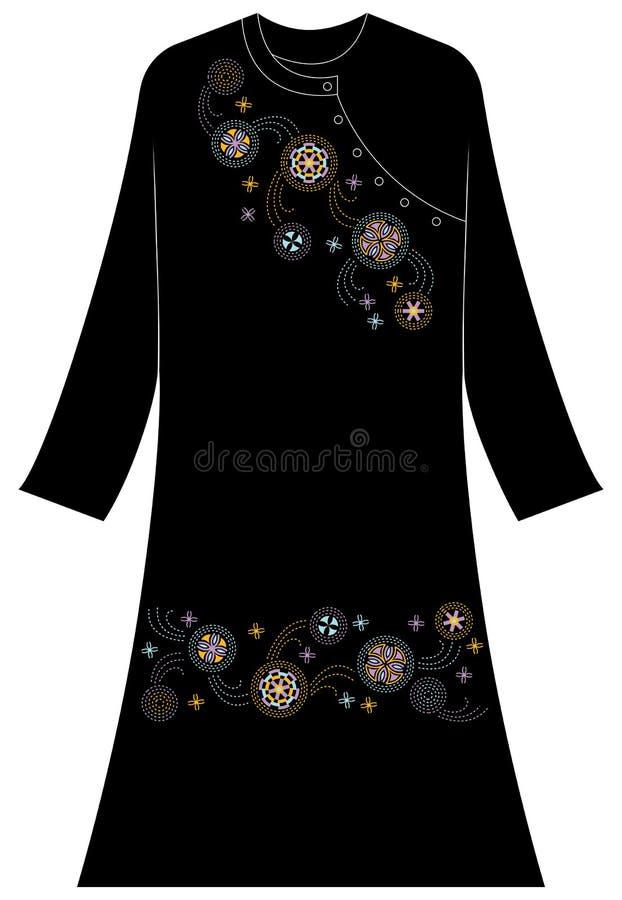 Abbigliamento del ` s delle donne: Linee e punti che formano un cerchio immagini stock