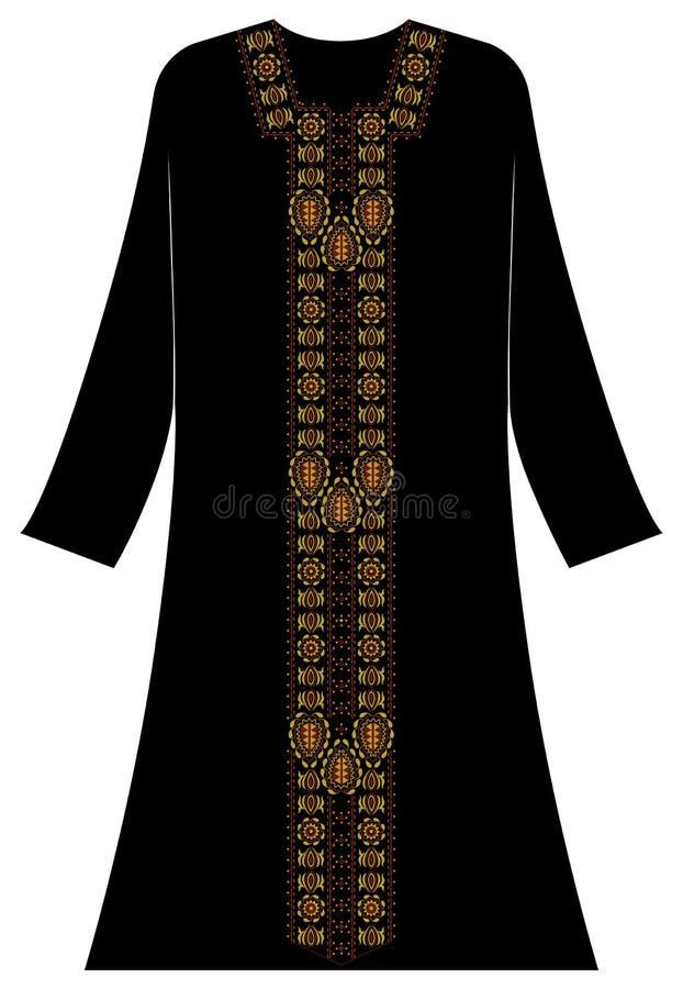 Abbigliamento del ` s delle donne: Motivi delle date con stile arabo fotografia stock libera da diritti