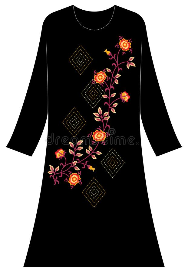 Abbigliamento del ` s delle donne: Un fiore luminoso del papavero in associazione immagini stock libere da diritti