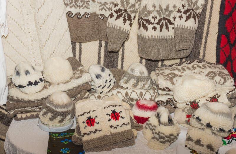 Abbigliamento tessuto della lana immagini stock