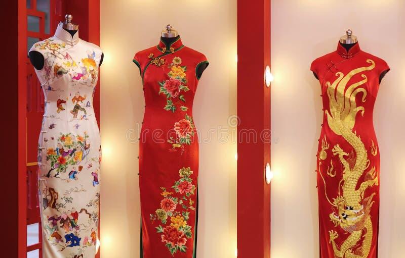 Abbigliamento tradizionale cinese fotografia stock
