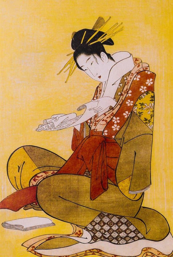 Abbigliamento tradizionale giapponese fotografie stock libere da diritti