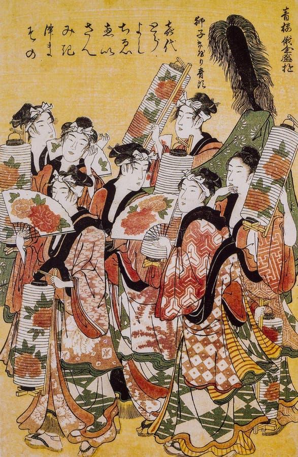 Abbigliamento tradizionale giapponese fotografia stock