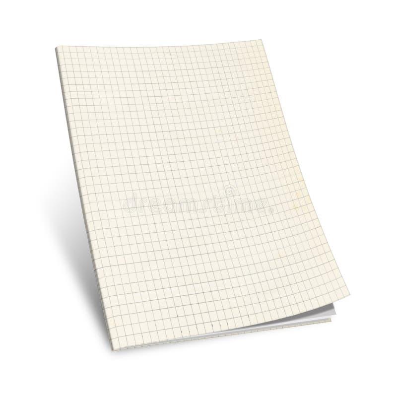 Abbildung 3D des quadrierten Notizbuches, lizenzfreie abbildung