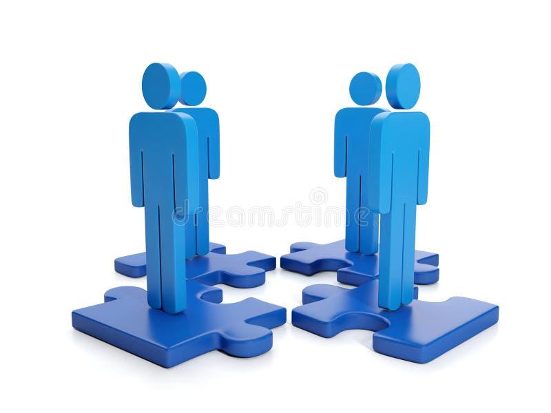 Abbildung 3d: Geschäfts-Teilhaberschaft lizenzfreie abbildung