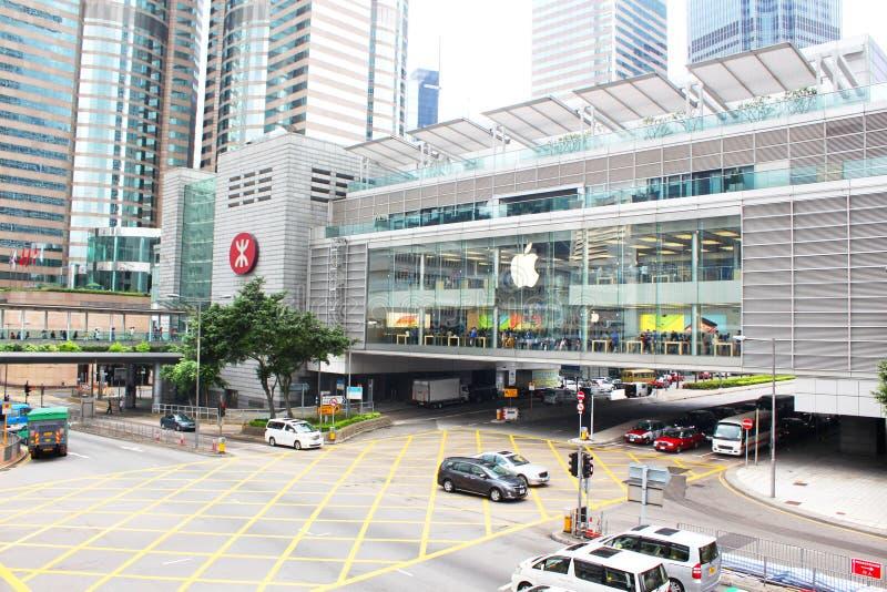 Abbildung Appleinc öffnete seinen langerwarteten ersten Speicher in Hong Kong lizenzfreies stockbild