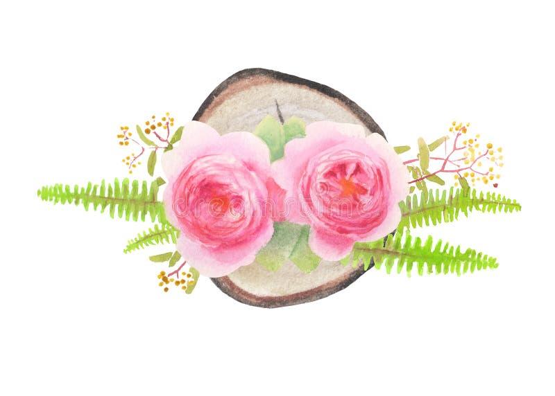 Abbildung der Blumenauslegung element lizenzfreies stockbild