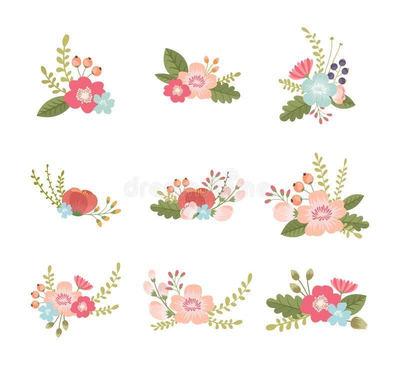 Abbildung der Blumenauslegung element lizenzfreie abbildung