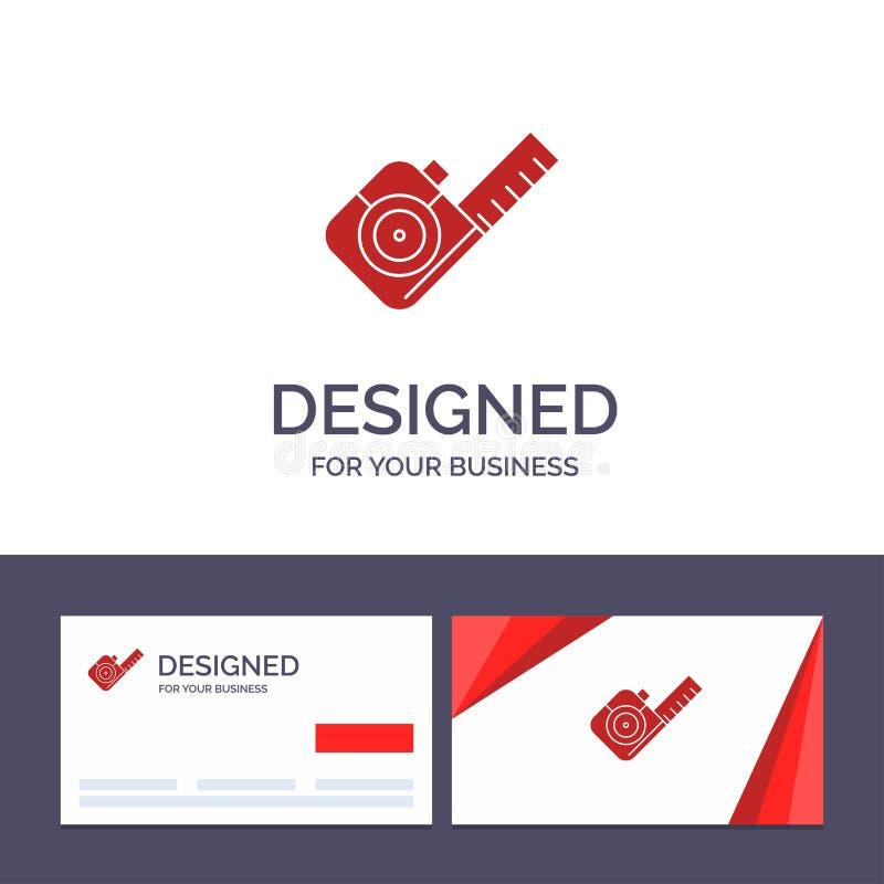 Abbildung der Creative Business Card und des Logos, Messung, Band, Tool Vector stock abbildung
