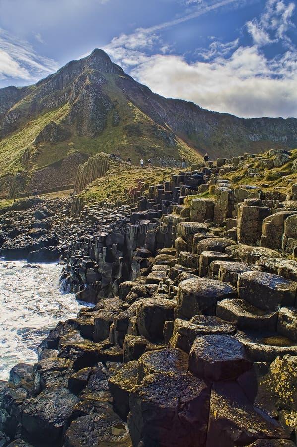 Abbildung der Dammes des Riesen in Nordirland. lizenzfreies stockfoto