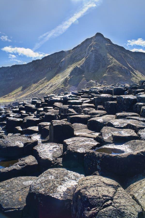 Abbildung der Dammes des Riesen in Nordirland. lizenzfreies stockbild