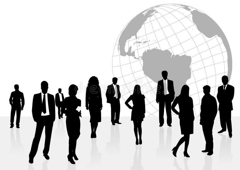 Abbildung der Geschäftsleute und der Frauen lizenzfreie abbildung