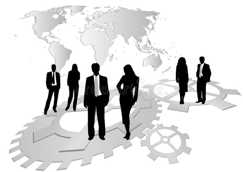 Abbildung der Geschäftsleute und der Frauen stock abbildung