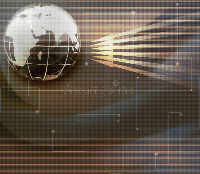 Abbildung der globalen Kommunikation lizenzfreie abbildung