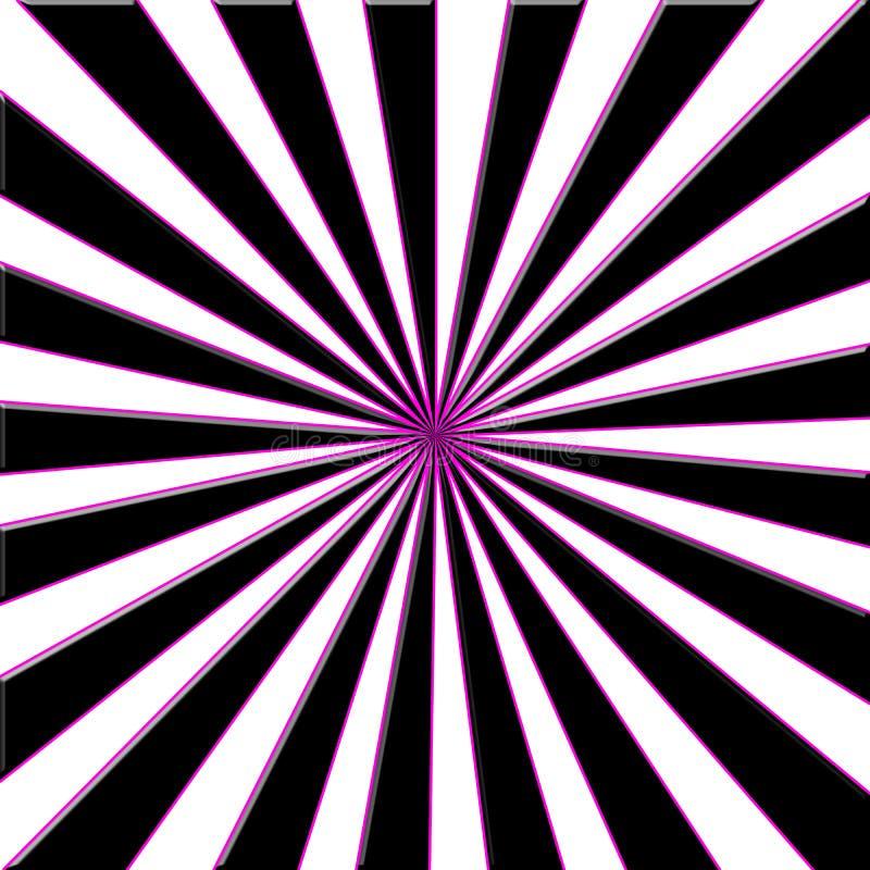 Abbildung der hellen Strahlen vektor abbildung