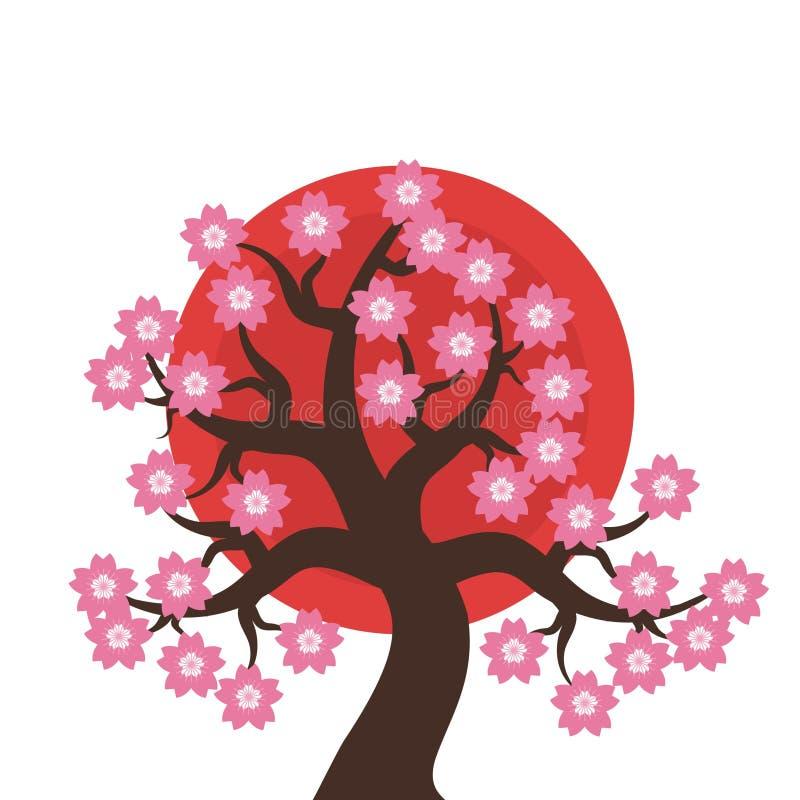 Abbildung der japanischen Art stock abbildung