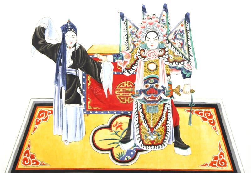 Abbildung der Peking-Oper stockbilder