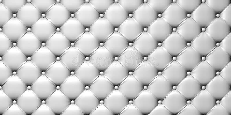 Abbildung der Polsterung des weißen Leders lizenzfreie abbildung
