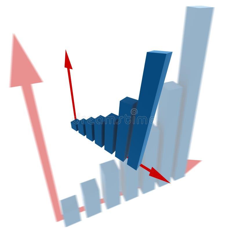 Abbildung der Statistiken 3d vektor abbildung