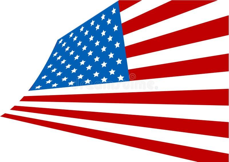 Abbildung der USA-Markierungsfahne vektor abbildung
