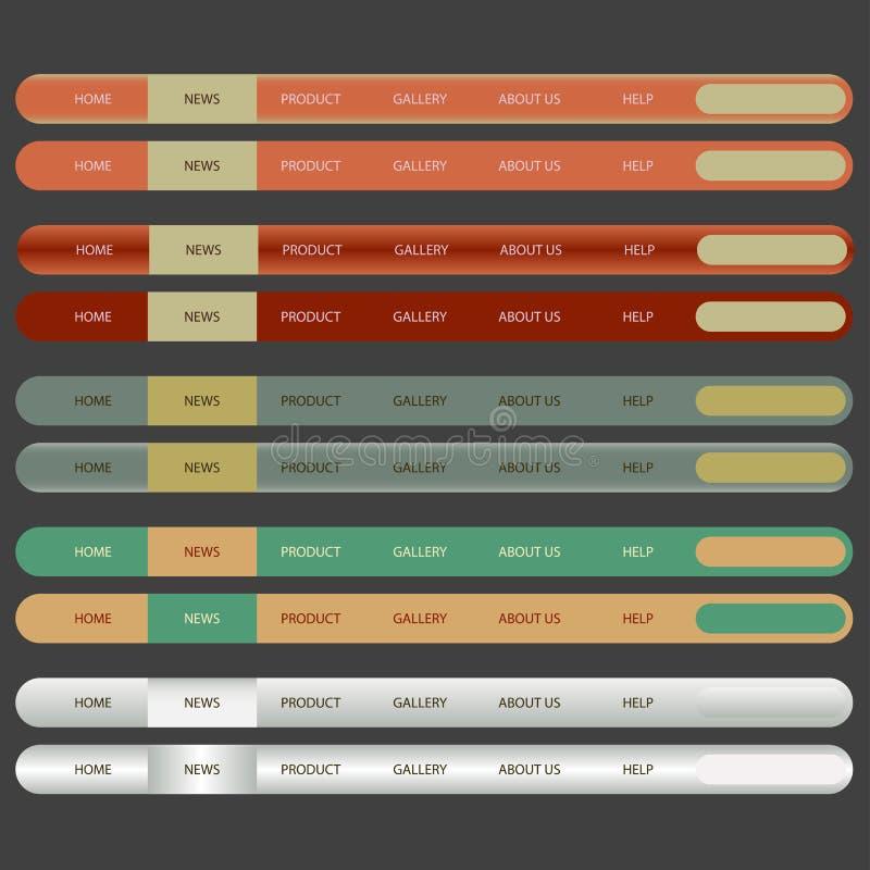 Abbildung der Web-Element-Navigation Bar.vector. stock abbildung