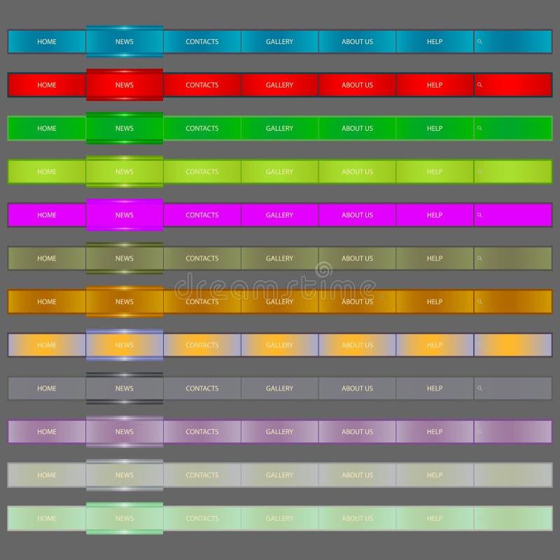 Abbildung der Web-Element-Navigation Bar.vector. vektor abbildung