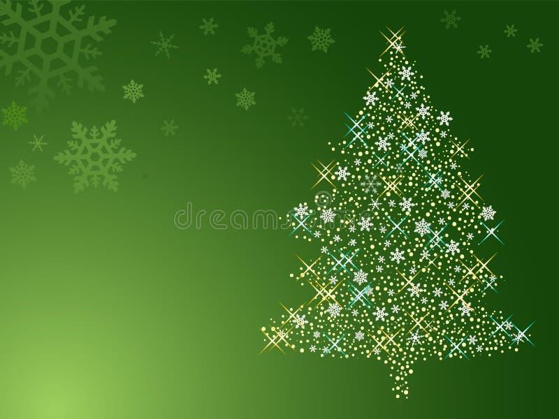 Abbildung des abstrakten Weihnachtsbaums lizenzfreie abbildung