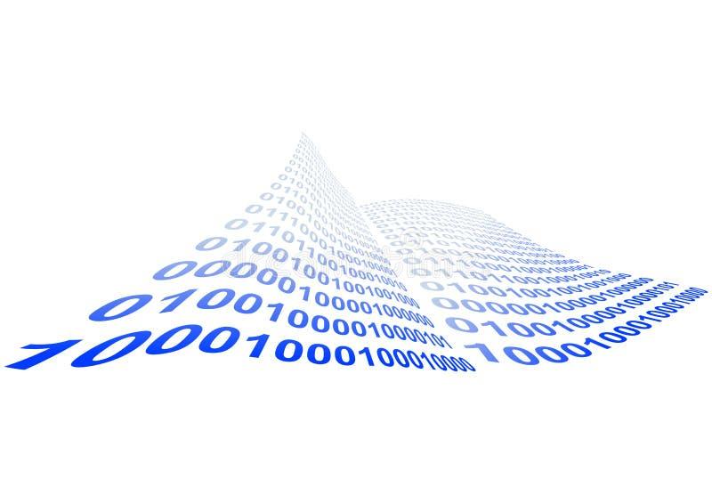 Abbildung des binären Codes lizenzfreie abbildung