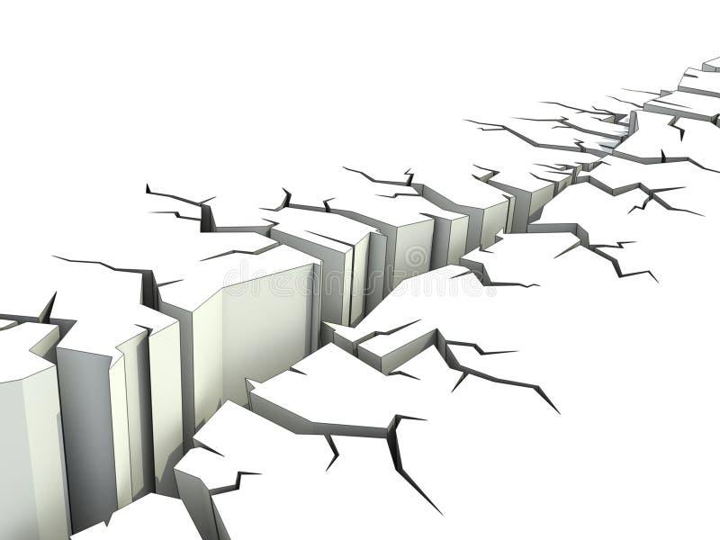 Abbildung des Erdbebens 3d lizenzfreie abbildung