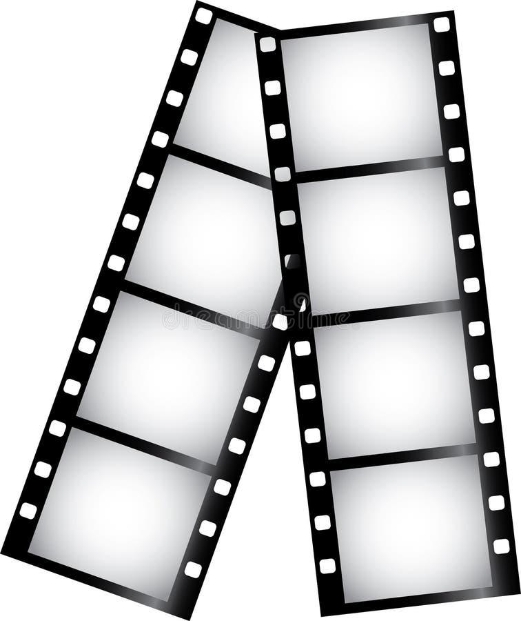 Abbildung des Filmstreifens stock abbildung
