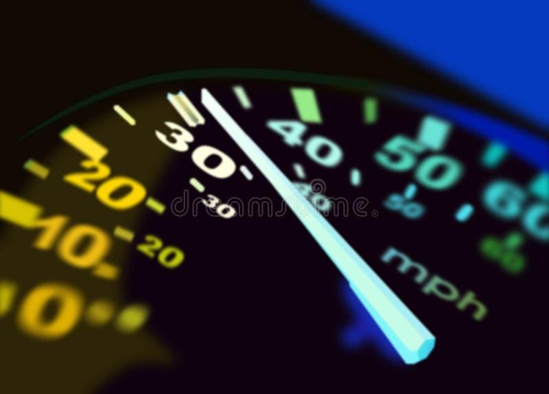 Abbildung des Geschwindigkeitsmessers lizenzfreies stockfoto
