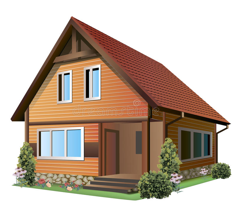 Abbildung des Hauses stock abbildung